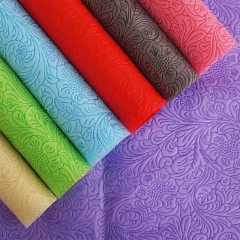 Recycled Rolls Fabrics Textiles Non-woven Embossed Fabric